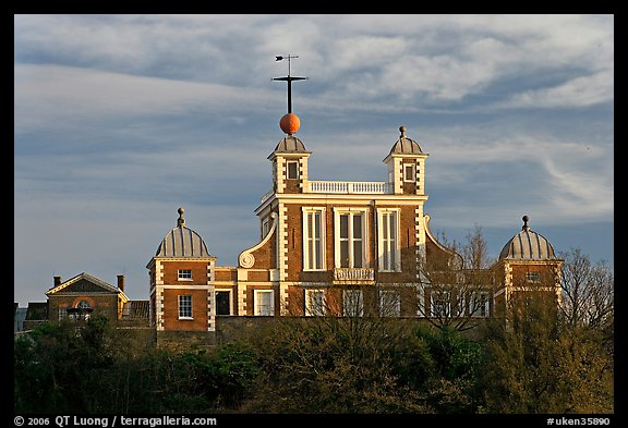 Flamsteed House designed by Christopher Wren, Royal Observatory. Greenwich, London, England, United Kingdom (color)