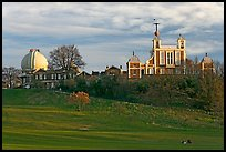 Greenwich Park and Royal Observatory, late afternoon. Greenwich, London, England, United Kingdom (color)
