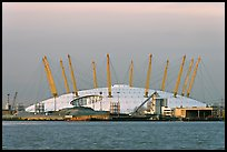 Millenium Dome at sunset. Greenwich, London, England, United Kingdom