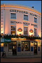 Spanish Galleon Tavern and  Shepherd Neame brewer, Britain's oldest. Greenwich, London, England, United Kingdom ( color)
