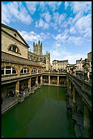 Main Pool of the Roman Bath. Bath, Somerset, England, United Kingdom