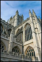 Bath Abbey tower. Bath, Somerset, England, United Kingdom (color)
