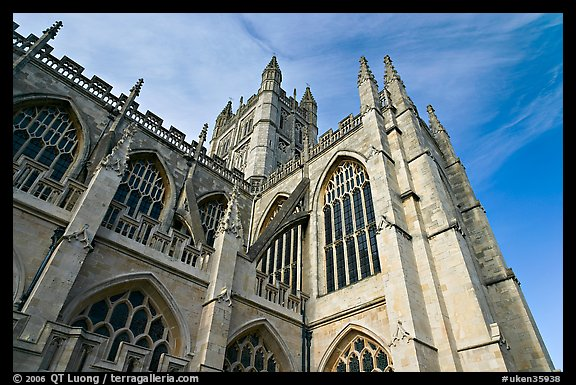 Towering Bath Abbey. Bath, Somerset, England, United Kingdom (color)