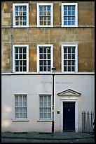 Residential facade. Bath, Somerset, England, United Kingdom ( color)