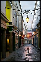 Narrow alley at dawn. Bath, Somerset, England, United Kingdom
