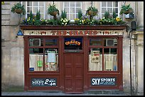 Facade of small restaurant. Bath, Somerset, England, United Kingdom (color)