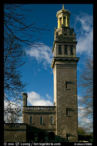 Beckford tower with topmost gilded belvedere. Bath, Somerset, England, United Kingdom (color)