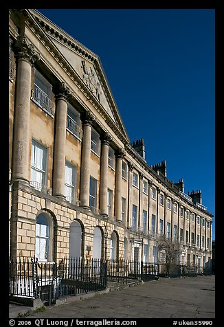 Lansdown Crescent. Bath, Somerset, England, United Kingdom (color)