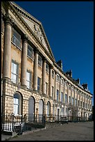 Lansdown Crescent. Bath, Somerset, England, United Kingdom ( color)