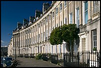 Georgian terraces of Lansdown Crescent. Bath, Somerset, England, United Kingdom