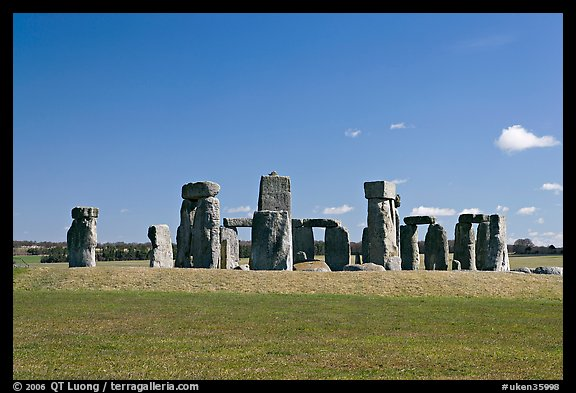 Megalithic monument, Stonehenge, Salisbury. England, United Kingdom (color)