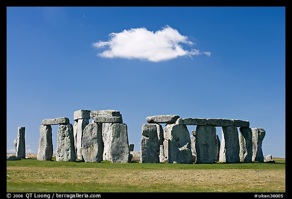 Stone United Kingdom  city images : ... isolated cloud, Stonehenge, Salisbury. England, United Kingdom color