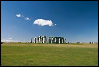Circle of megaliths standing on the Salisbury Plain, Stonehenge, Salisbury. England, United Kingdom (color)