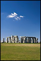 Prehistoric monument of megaliths, Stonehenge, Salisbury. England, United Kingdom (color)