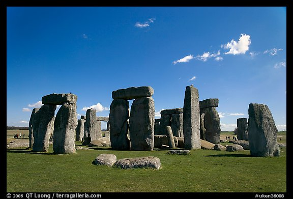 Circle with stone lintels, Stonehenge, Salisbury. England, United Kingdom