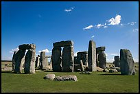 Circle with stone lintels, Stonehenge, Salisbury. England, United Kingdom (color)
