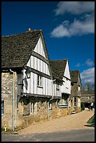 Half-timbered houses, Lacock. Wiltshire, England, United Kingdom