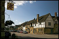 One of the four main streets  of National Trust village of Lacock. Wiltshire, England, United Kingdom (color)