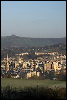 Meadow and city center. Bath, Somerset, England, United Kingdom ( color)