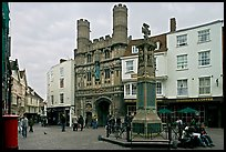 Cathedal Gate and monument. Canterbury,  Kent, England, United Kingdom (color)