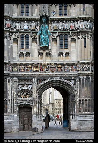 Christ Church Gate (Cathedral precincts main entrance). Canterbury,  Kent, England, United Kingdom (color)