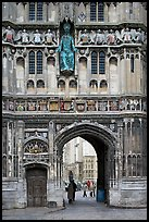 Christ Church Gate (Cathedral precincts main entrance). Canterbury,  Kent, England, United Kingdom ( color)