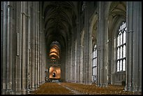Nave, built in the Perpendicular style, Canterbury Cathedral. Canterbury,  Kent, England, United Kingdom