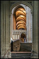 Aisle, Canterbury Cathedral. Canterbury,  Kent, England, United Kingdom (color)