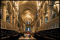 Quire of Canterbury Cathedral, the longest of any English Cathedral, and musicans. Canterbury,  Kent, England, United Kingdom ( color)