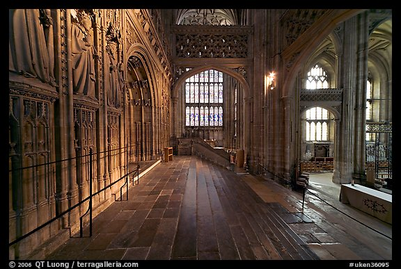 Central crossing, Canterbury Cathedral. Canterbury,  Kent, England, United Kingdom (color)
