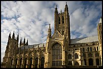 Central tower and south transept, Canterbury Cathedral. Canterbury,  Kent, England, United Kingdom ( color)