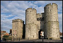 West gate to the medieval town. Canterbury,  Kent, England, United Kingdom ( color)