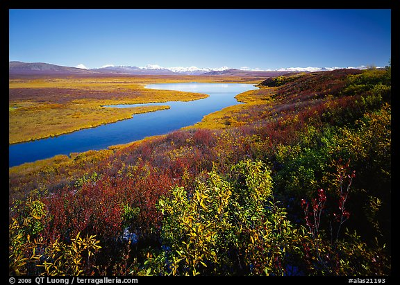 Lake and distant mountain range. Alaska, USA (color)