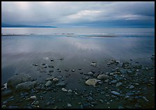 Pebbles, beach, and Katchemak Bay. Homer, Alaska, USA