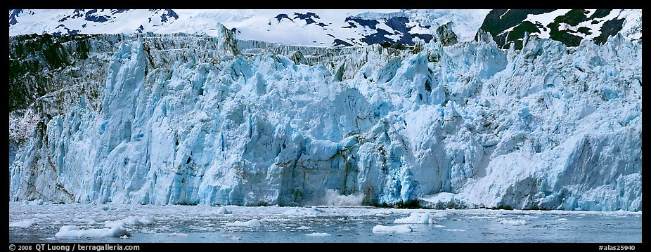 Front of tidewater glacier. Prince William Sound, Alaska, USA (color)