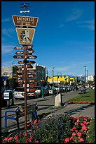 Downtown center with Air Crossroads of the World sign. Anchorage, Alaska, USA ( color)