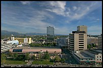 Downtown Anchorage from above. Anchorage, Alaska, USA ( color)