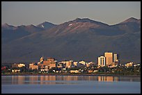 Skyline at sunset. Anchorage, Alaska, USA (color)
