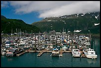 Whittier Harbour and mountains. Whittier, Alaska, USA ( color)