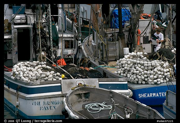 Commercial fishing boats. Whittier, Alaska, USA