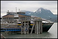 High Speed catamaran Chenega of Alaska Marimite Highway unloading in Valdez. Alaska, USA (color)