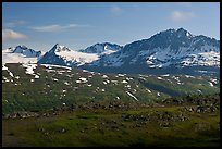 Jagged peaks above Thompson Pass. Alaska, USA (color)