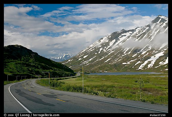 Richardson Highway below Thompson Pass. Alaska, USA (color)
