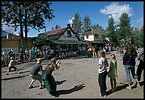 4th of July egg throwing contest. McCarthy, Alaska, USA (color)