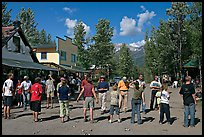 Egg throwing contest on main street. McCarthy, Alaska, USA