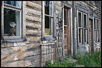 Detail of old wooden building. McCarthy, Alaska, USA ( color)