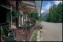McCarthy lodge and main street. McCarthy, Alaska, USA