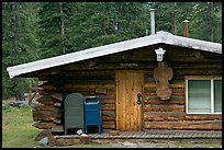 Log house post office, Slana. Alaska, USA (color)