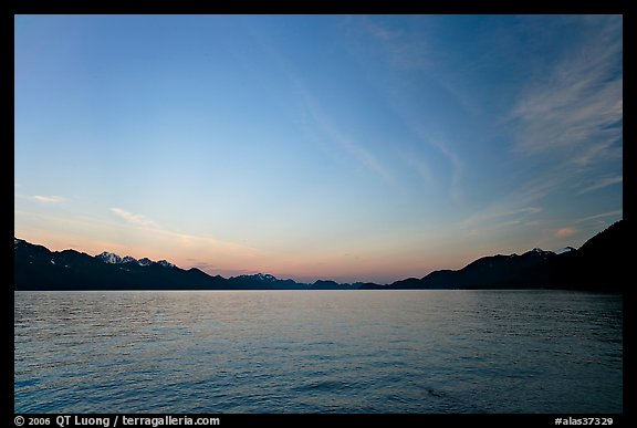 Resurrection Bay, sunset. Seward, Alaska, USA (color)