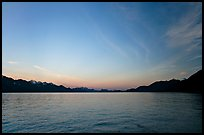 Resurrection Bay, sunset. Seward, Alaska, USA ( color)